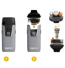 ASPIRE - NAUTILUS AIO kit guide 1 til at skifte coil