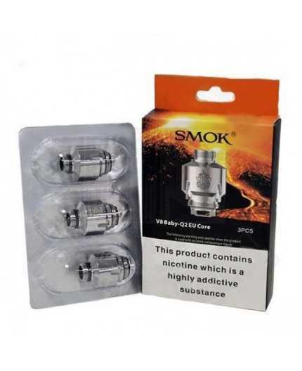 3 stk. SMOK V8 Baby Q2 EU Core 0,4 oHm