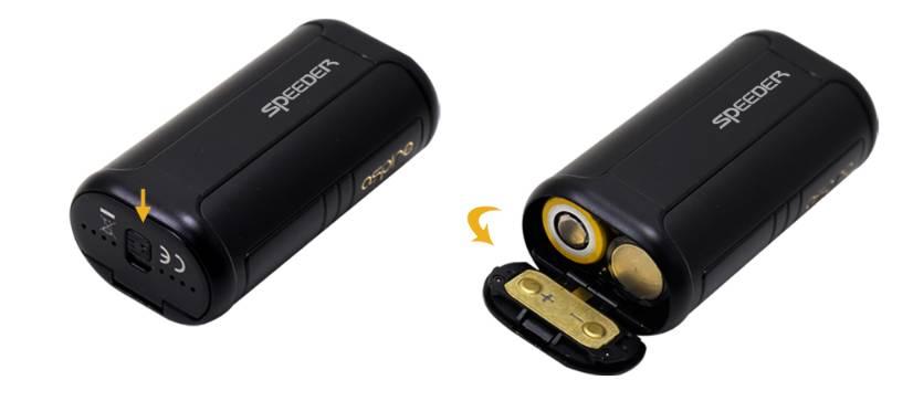 Udskift batterier i Speeder 200W