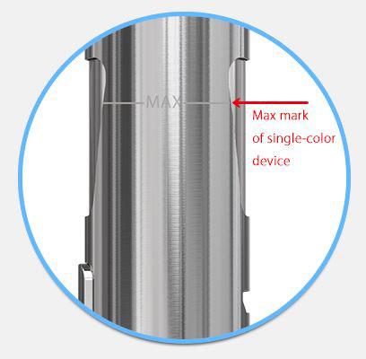 Max påfyldning af e-juice sølv eGo A10