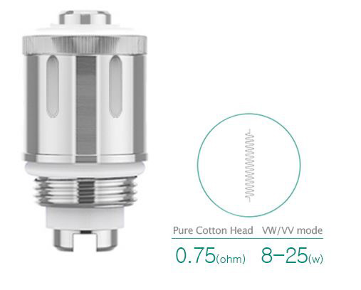 GS air atomizer 0.75 ohm
