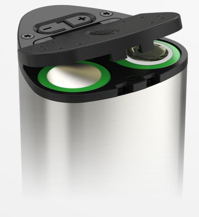 Pico Dual flip open design til batterier