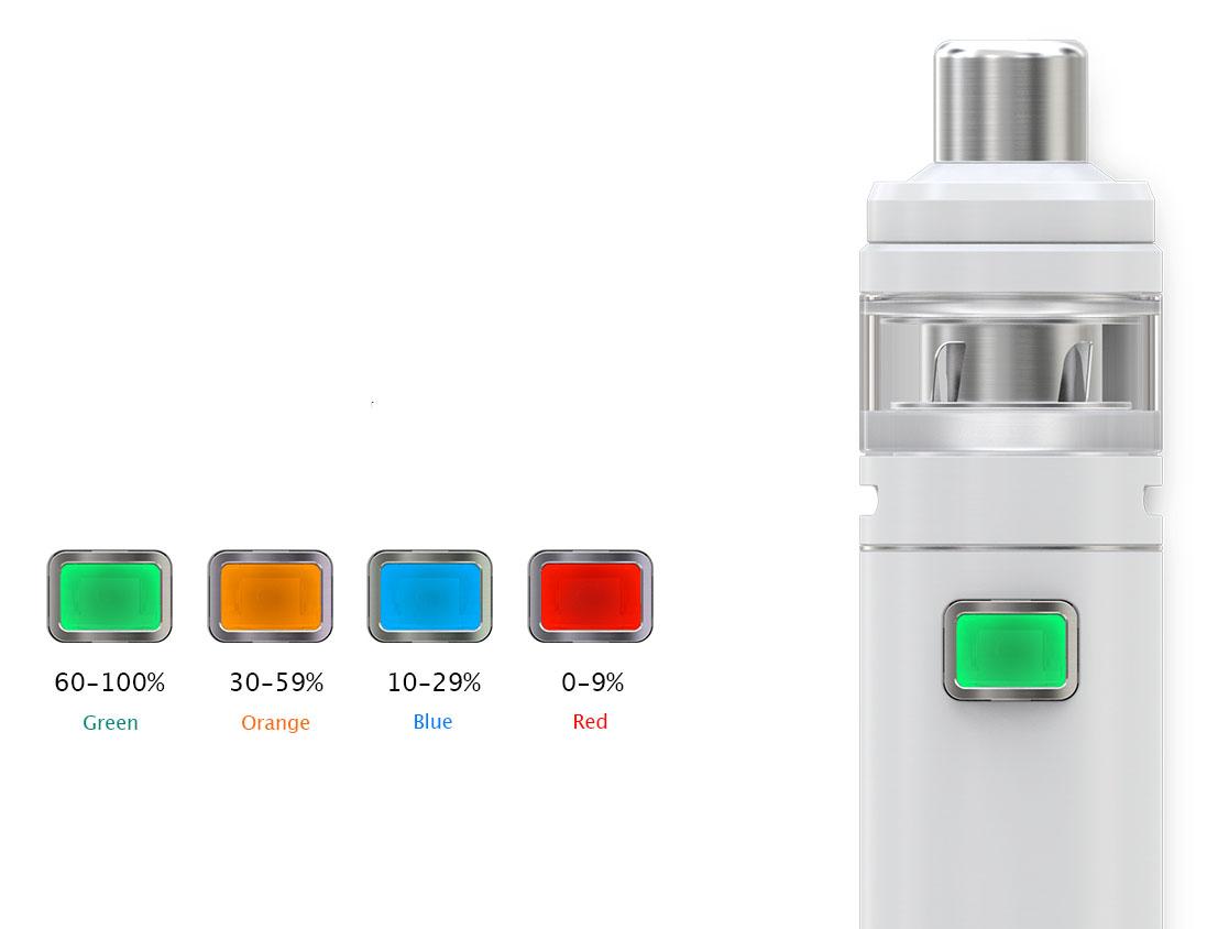Lysdioder batteri status