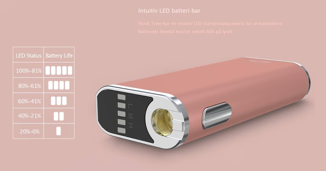 istick trim batteri med indikator