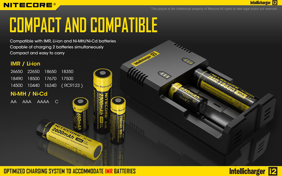 nitecore new i2 informationer