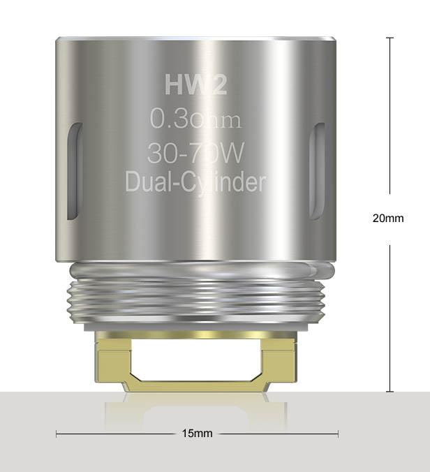 HW2 dual coil dimensioner